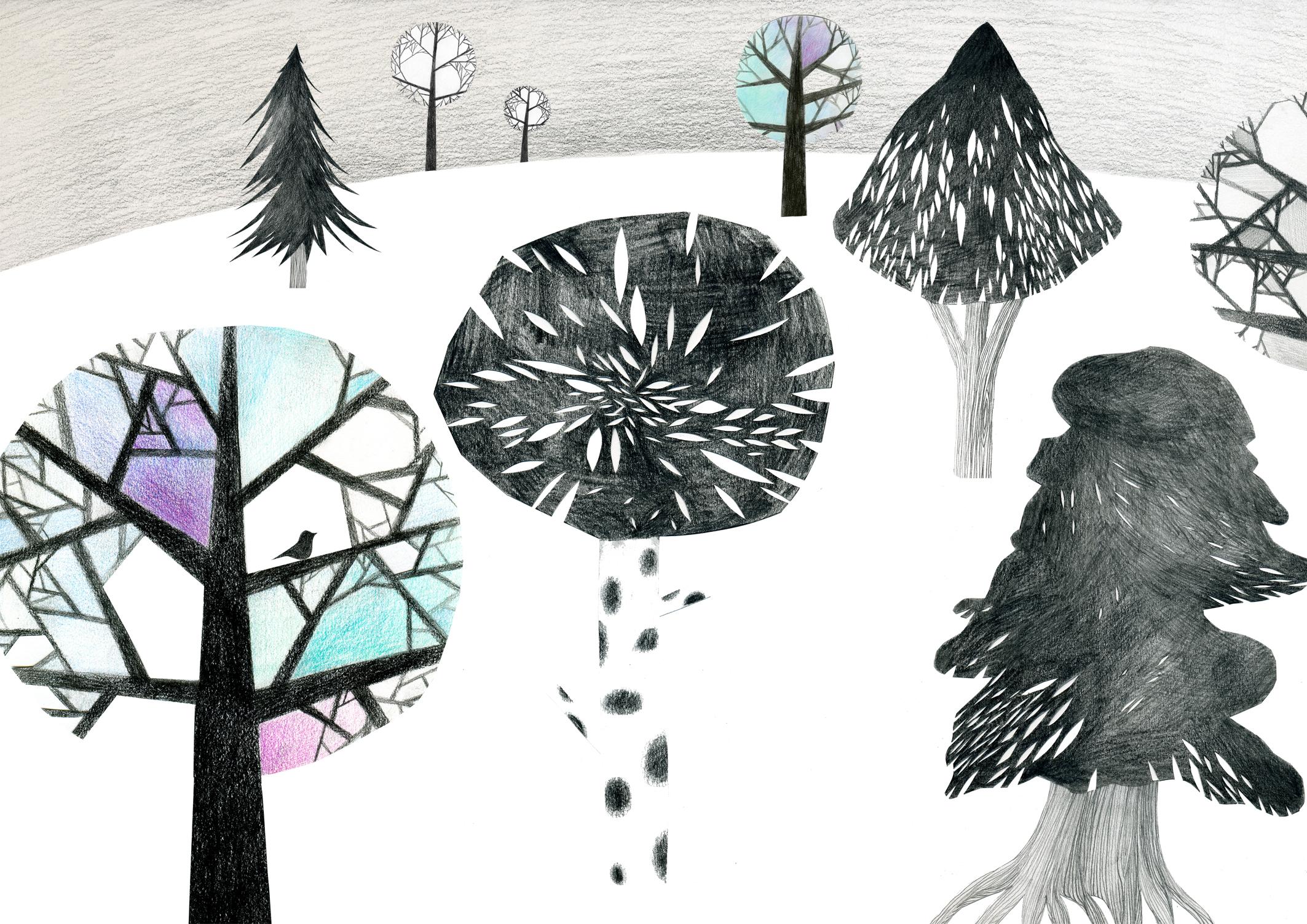 Trees 2010 - kuvitus - Mirkka Eskonen